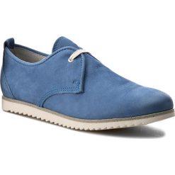 Półbuty MARCO TOZZI - 2-23614-28 Azur 883. Niebieskie półbuty damskie skórzane marki Marco Tozzi, w ażurowe wzory, na płaskiej podeszwie. W wyprzedaży za 169,00 zł.