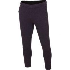 Spodnie dresowe męskie: Spodnie dresowe męskie SPMD005 – ciemny szary melanż