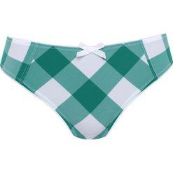 """Majtki damskie: Figi """"Primavera"""" w kolorze biało-zielonym"""