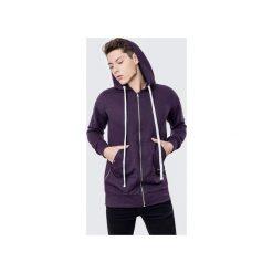 Bluzy męskie: Bluza bawełniana z kapturem i suwakami Basic Purple