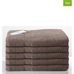 Kąpielówki męskie: Ręczniki prysznicowe (5 szt.) w kolorze szarobrązowym