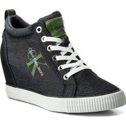 Sneakersy CALVIN KLEIN JEANS - Ritzy Denim R8957 Indigo. Niebieskie sneakersy damskie Calvin Klein Jeans, z denimu. W wyprzedaży za 319,00 zł.