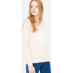 Swetry klasyczne damskie: Miękki sweter z grubym splotem – Kremowy