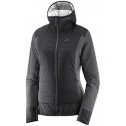 Bluzy damskie: Salomon Bluza Right Nice Hybrid Hoodie W Black M