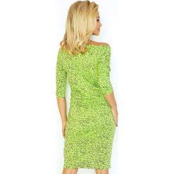 Elise Sukienka sportowa - PAMIĘTNIK napis NOWY + zielony jasny. Zielone sukienki hiszpanki numoco, z napisami, z wiskozy, sportowe, sportowe. Za 109,00 zł.