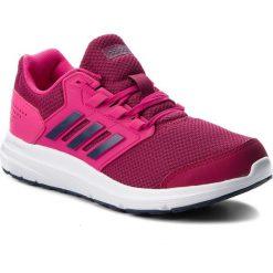Buty adidas - Galaxy 4 B44725 Reamag/Trablu/Mysrub. Czarne buty do biegania damskie marki Adidas, z kauczuku. W wyprzedaży za 189,00 zł.