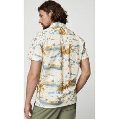 Mango Man - Koszula Harold. Szare koszule męskie na spinki Mango Man, l, z krótkim rękawem. W wyprzedaży za 69,90 zł.