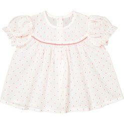 Bluza z krótkim rękawem i nadrukiem 1 m-c - 3 lata. Białe bluzy dziewczęce rozpinane marki La Redoute Collections, z nadrukiem, z bawełny, z krótkim rękawem, krótkie. Za 52,88 zł.