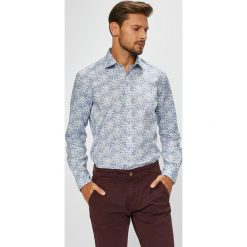 Pierre Cardin - Koszula. Szare koszule męskie na spinki marki Pierre Cardin, z bawełny, z klasycznym kołnierzykiem, z długim rękawem. W wyprzedaży za 229,90 zł.