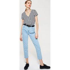 Bluzki asymetryczne: Kopertowa bluzka - Biały