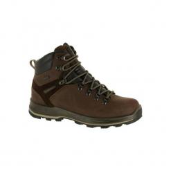 Buty trekkingowe wysokie TREK 500 męskie. Brązowe buty trekkingowe męskie FORCLAZ, z poliesteru, trekkingowe. Za 399,99 zł.