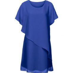Sukienka z tkaniny bonprix ciemnoniebieski. Niebieskie sukienki asymetryczne bonprix, z tkaniny, z asymetrycznym kołnierzem. Za 109,99 zł.