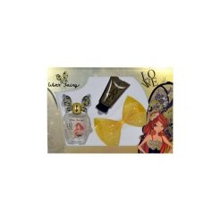 Winx Fairy Couture Bloom zestaw Edt 100ml + 75ml Balsam + Spinka do włosów dla kobiet. Brązowe ozdoby do włosów marki Winx Fairy Couture. Za 30,32 zł.