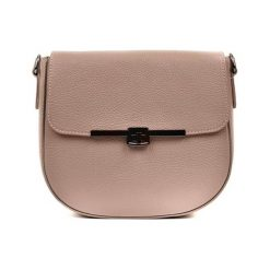 Torebki klasyczne damskie: Skórzana torebka w kolorze fango – (S)21 x (W)23 x (G)9 cm