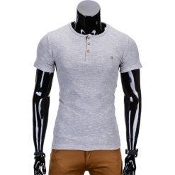 T-shirty męskie: T-SHIRT MĘSKI BEZ NADRUKU S742 – SZARY