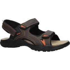 Brązowe sandały na rzepy Casu B9511-7. Brązowe sandały męskie marki Casu, na rzepy. Za 59,99 zł.