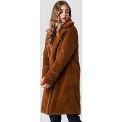 Rut&Circle Płaszcz Luna - Brown. Brązowe płaszcze damskie Rut&Circle, z haftami. Za 364,95 zł.