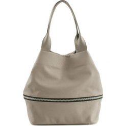 Torebki klasyczne damskie: Skórzana torebka w kolorze beżowym – (G)19 cm