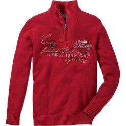 Swetry męskie: Sweter ze stójką Regular Fit bonprix ciemnoczerwony