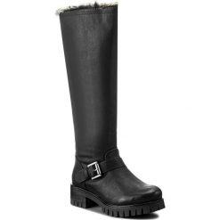 Kozaki JENNY FAIRY - WS17010 Czarny. Czarne buty zimowe damskie marki Jenny Fairy, ze skóry ekologicznej, na obcasie. Za 159,99 zł.