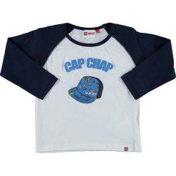 """T-shirty chłopięce z długim rękawem: Koszulka """"Tyler"""" w kolorze biało-granatowym"""