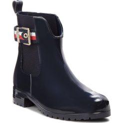Kalosze TOMMY HILFIGER - Corporate Belt Rain FW0FW03329 Midnight 403. Niebieskie buty zimowe damskie marki TOMMY HILFIGER, z materiału. W wyprzedaży za 319,00 zł.
