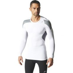 Adidas Koszulka męska Techfit Cool Long Sleeve Tee biała r. XS (S19451). Białe koszulki sportowe męskie Adidas, m, techfit (adidas). Za 129,00 zł.