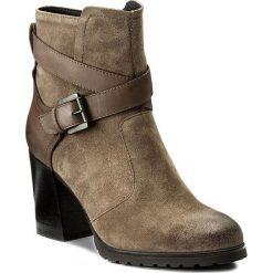 Botki GEOX - D New Lise H.A D746UA 02343 C6029 Taupe. Brązowe buty zimowe damskie Geox, ze skóry, na obcasie. W wyprzedaży za 359,00 zł.