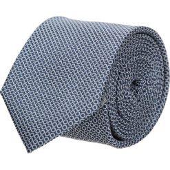 Krawaty męskie: krawat platinum granatowy classic 206