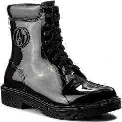 Kalosze ARMANI JEANS - 925118 7A678 00020  Nero. Czarne buty zimowe damskie marki Armani Jeans, z jeansu. W wyprzedaży za 319,00 zł.