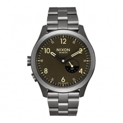 """Zegarek """"A1168-2689-00"""" w kolorze srebrno-brązowym. Brązowe, analogowe zegarki męskie NIXON & ESPRIT, ze stali. W wyprzedaży za 539,95 zł."""