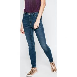 Only - Jeansy Denim Power. Niebieskie jeansy damskie rurki ONLY, z podwyższonym stanem. W wyprzedaży za 119,90 zł.