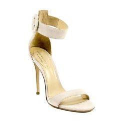 Rzymianki damskie: Skórzane sandały w kolorze kremowym