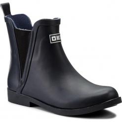 Kalosze BIG STAR - AA274985  Granat. Niebieskie buty zimowe damskie BIG STAR, z materiału. W wyprzedaży za 119,00 zł.