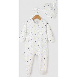 Welurowa piżama z czapeczką - Oeko Tex. Szare bielizna chłopięca marki La Redoute Collections, z bawełny. Za 104,96 zł.
