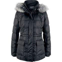 Kurtka pikowana z kapturem bonprix czarny. Czarne kurtki damskie pikowane marki bonprix, z kapturem. Za 239,99 zł.