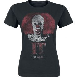 TO Pennywise Clown Logo Koszulka damska czarny. Czarne bluzki z odkrytymi ramionami TO, m, z nadrukiem, z okrągłym kołnierzem. Za 42,90 zł.