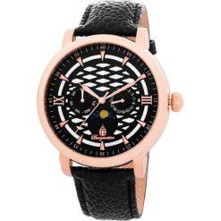 """Zegarki męskie: Zegarek """"Akron"""" w kolorze czarno-różowozłotym"""
