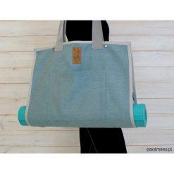 Torba na akcesoria do jogi/ Mandala #1. Szare torebki klasyczne damskie Pakamera, z tkaniny, duże. Za 239,00 zł.
