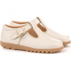 Skórzane półsandały w kolorze beżowym. Niebieskie sandały chłopięce marki geox kids, z gumy. W wyprzedaży za 185,95 zł.