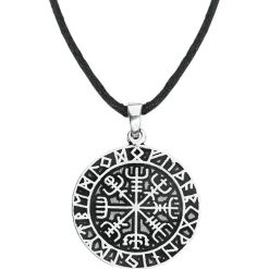 Łańcuszki męskie: etNox Magic and Mystic Viking Compass Wisiorek + Rzemyk standard