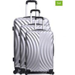 """Walizki: Walizki (3 szt.) """"Lagos"""" w kolorze srebrnym"""