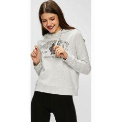 Only - Bluza Eva. Szare bluzy z kapturem damskie marki ONLY, m, z nadrukiem, z bawełny. W wyprzedaży za 99,90 zł.