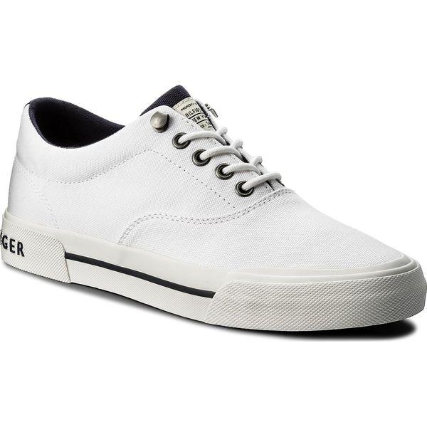 f334001e51946 Tenisówki TOMMY HILFIGER - Heritage Textile Sneaker FM0FM01353 White ...