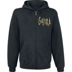 Bejsbolówki męskie: Gojira Sun Swallower Bluza z kapturem rozpinana czarny