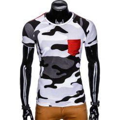 T-shirty męskie: T-SHIRT MĘSKI Z NADRUKIEM MORO S948 – SZARY/MORO