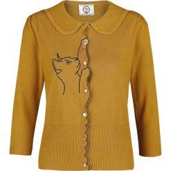 Dancing Days Cat Cardigan Kardigan damski żółty (mustard yellow). Żółte kardigany damskie marki Mohito, l, z dzianiny. Za 184,90 zł.