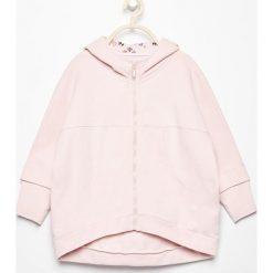 Bluzy dziewczęce: Bluza oversize z nadrukiem na plecach - Różowy