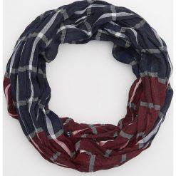 Komin z tkaniny w kratę - Granatowy. Niebieskie szaliki męskie marki Reserved, z tkaniny. Za 49,99 zł.