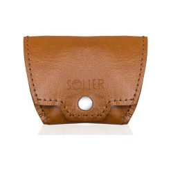 Portfele męskie: Skórzana bilonówka, portfel na monety SOLIER S CAMEL REESE